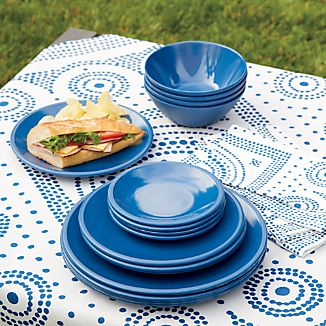 Lunea Melamine Indigo Dinnerware