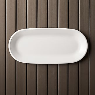 Lunea Melamine White Oval Serving Platter