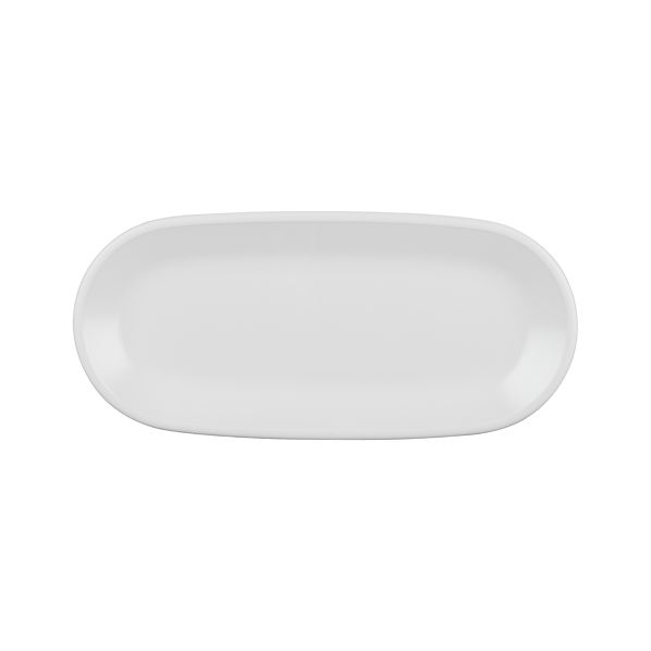 "Lunea Melamine White 13.75""x6.25"" Platter"