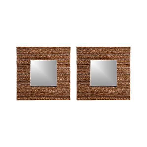 Set of 2 Lurik Wall Mirrors