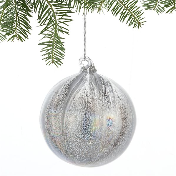 Luster Silver Ball Ornament