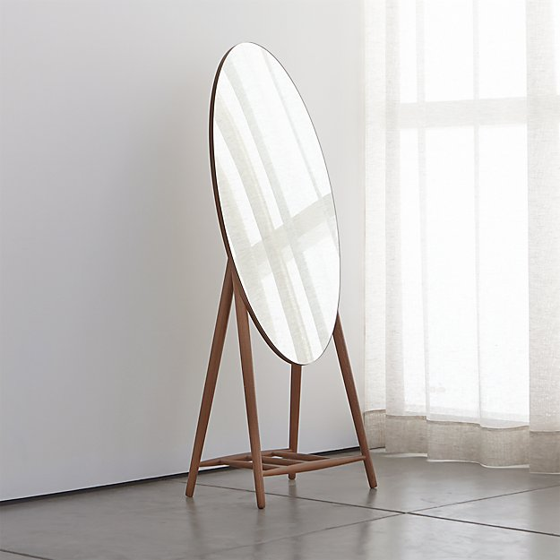 Luxley Oval Floor Mirror Crate And Barrel