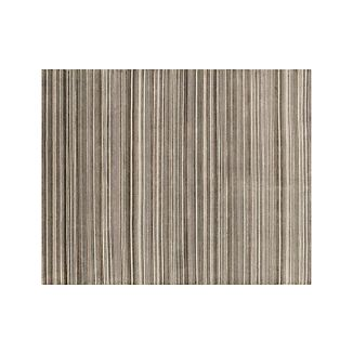 Lynx Grey Striped Hand Knotted Wool 8'x10' Rug