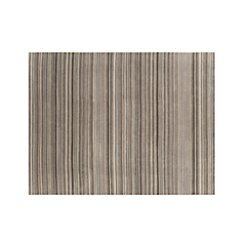 Lynx Grey Striped Hand Knotted Wool 9'x12' Rug