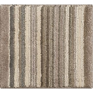 "Lynx Grey Striped Hand Knotted Wool 12"" sq. Rug Swatch"