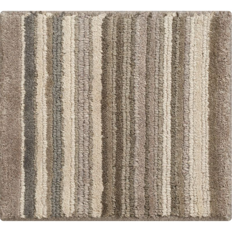 """Lynx Grey Striped Hand Knotted Wool 12"""" sq. Rug Swatch"""
