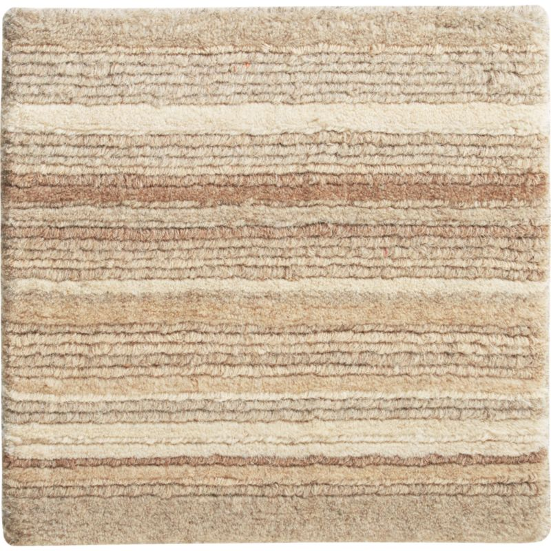 """Lynx Natural Striped Hand Knotted Wool Rug 12"""" sq. Rug Swatch"""