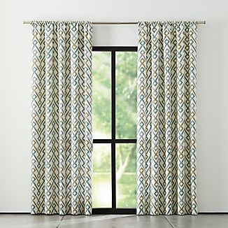 Maddox Khaki/Grey Curtains