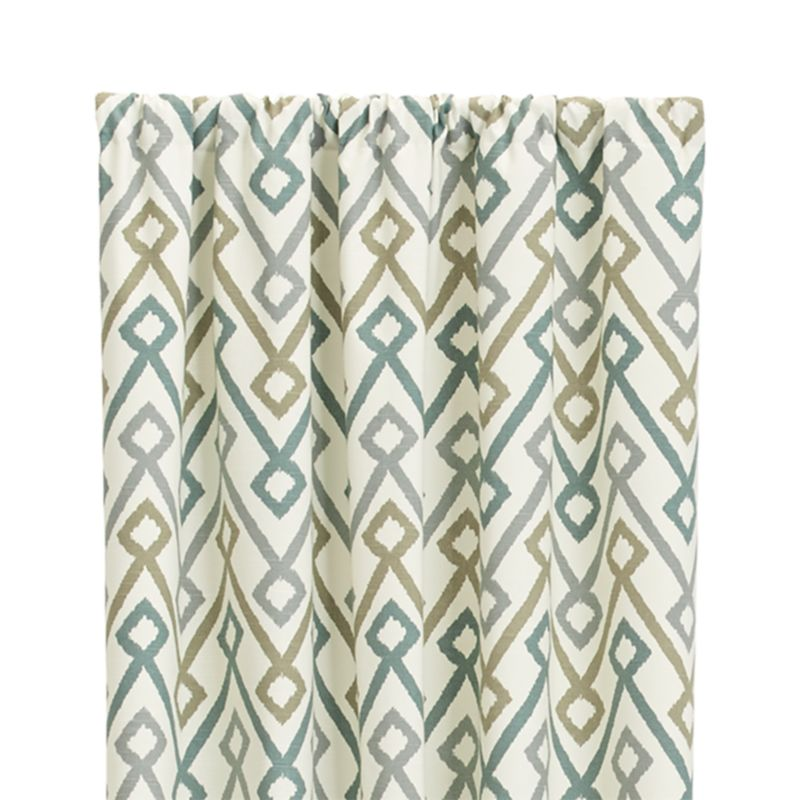 "Maddox 50""x96"" Khaki/Grey Curtain Panel"
