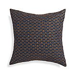 "Maddox Indigo Blue 18"" Pillow with Feather-Down Insert."