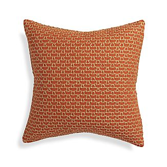 "Maddox Orange 18"" Pillow"