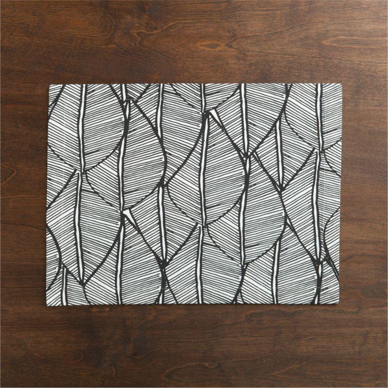 Graphic renderings of leaves of the Indian madhubani tree overlap in a fresh, modern design printed on 100% cotton.<br /><br /><NEWTAG/><ul><li>100% cotton</li><li>Machine wash, tumble dry; warm iron as needed</li><li>Made in India</li></ul>