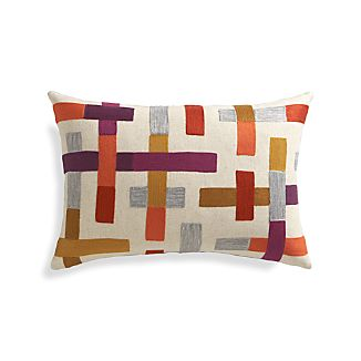 "Madison 22""x15"" Pillow with Down-Alternative Insert"