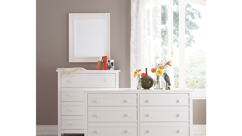 Brighton White 6 Drawer Dresser Crate And Barrel
