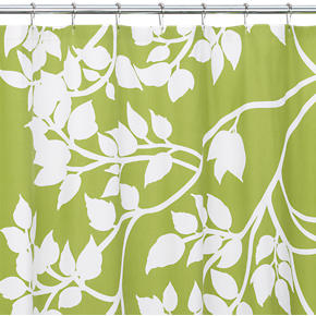 Crate and Barrel - Marimekko(r) Madison Green Shower Curtain ...