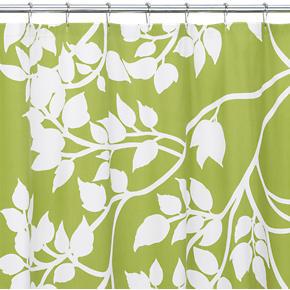 Crate and Barrel - Marimekko(r) Madison Green Shower Curtain ...