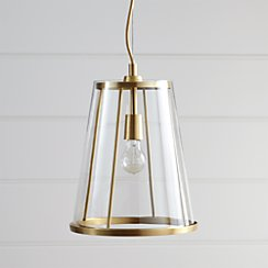 Madison Tapered Glass Pendant