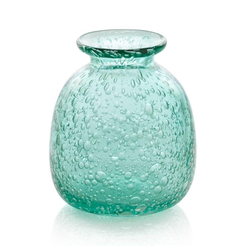 Effervescent soda glass bubbles sea-green, bottle-shaped vase.<br /><br /><NEWTAG/><ul><li>Handcrafted</li><li>Glass</li><li>Watertight</li><li>Hand wash</li><li>Made in China</li></ul>
