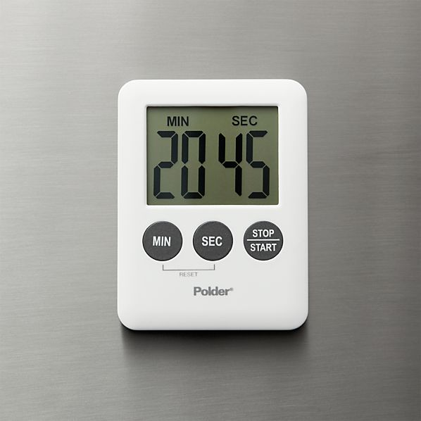 Polder ® Mini White Magnetic Digital Timer