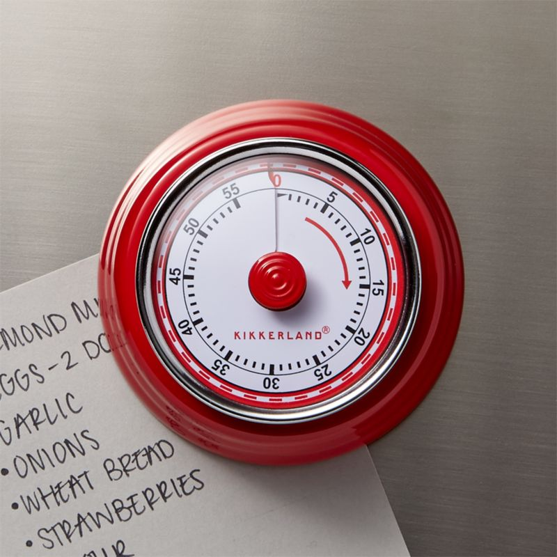Magnetic Red Kitchen Timer Crate And Barrel
