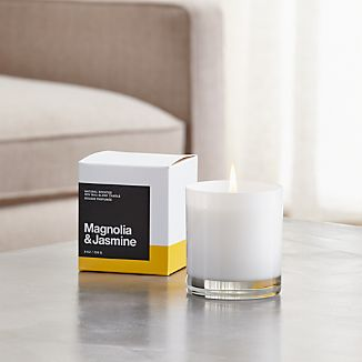 A flicker of fragrance to renew home and spirit. Our exclusive collection of handpoured, soy-blend candles brings together unique scent pairings to express your style and mood. Creamy sweet magnolia and heady jasmine mingle with essences of lemon, orange blossom, gardenia, cottage rose, amber and aromatic woods.