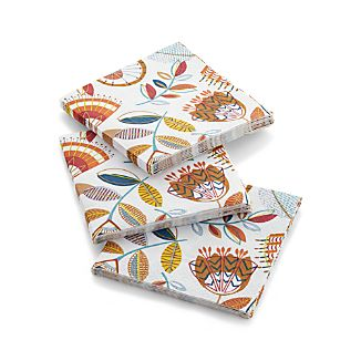 Set of 20 Maisie Paper Beverage Napkins