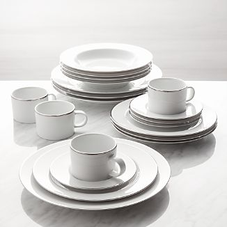 Maison Platinum Rim 20-Piece Dinnerware Set