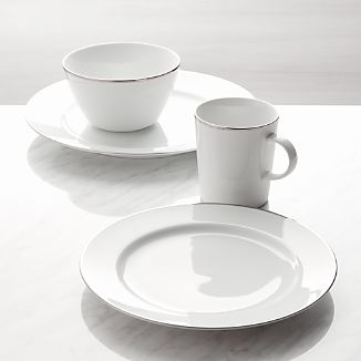Maison Platinum Rim 4-Piece Place Setting