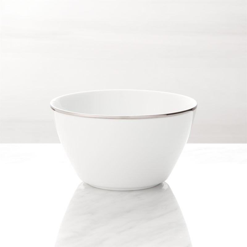Maison Platinum Rim Cereal Bowl