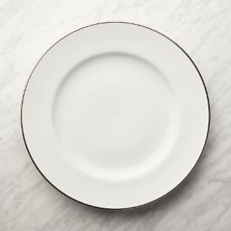 Maison Platinum Rim Round Platter