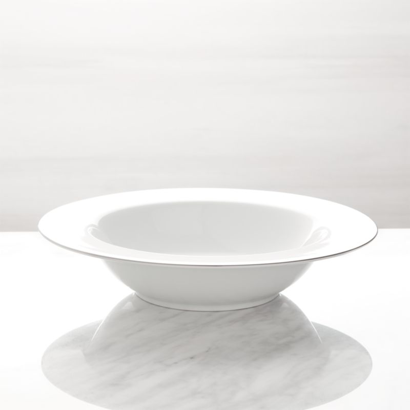 Maison Platinum Rim Serving Bowl