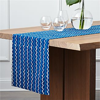 "Makena 90"" Indigo Table Runner"