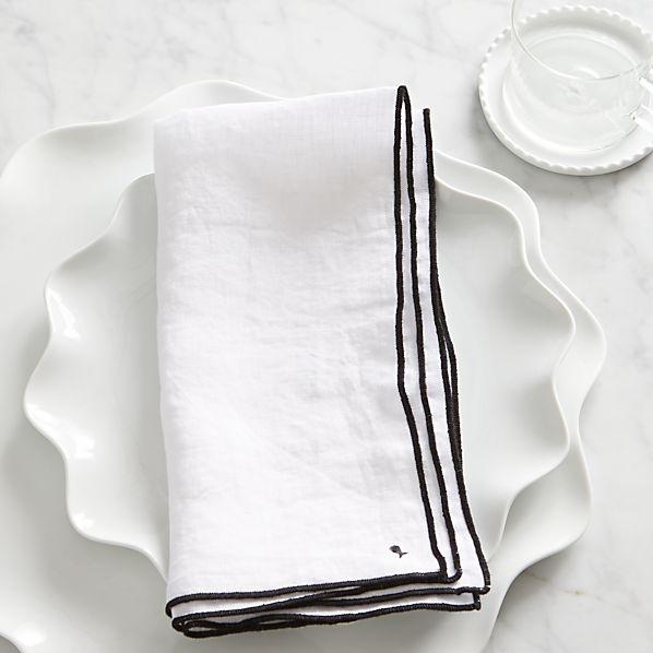 Mallorca Black Linen Napkin