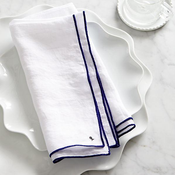 Mallorca Blue Linen Napkin