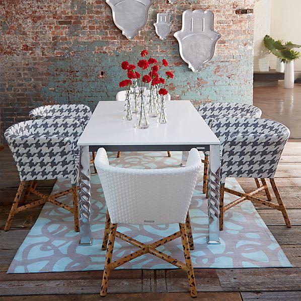 Mallorca Rectangular White Top Dining Table