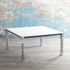 Mallorca Square White Top Dining Table