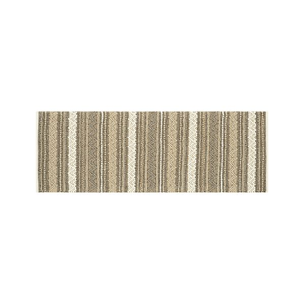 Mallory Neutral Striped Wool 2.5'x7' Rug Runner