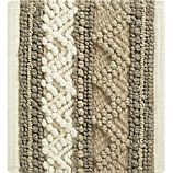 """Mallory Neutral Striped Wool 12"""" sq. Rug Swatch"""