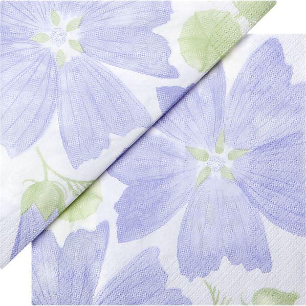 "Set of 20 Marimekko Malva Paper 4.75"" Napkins"