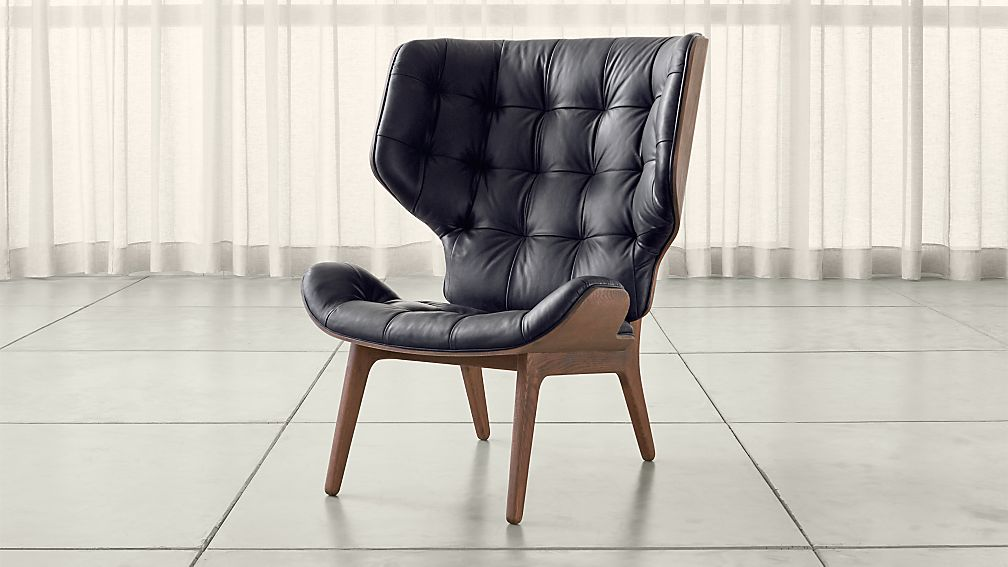 Mid Century Modern Leather Lounge Chair