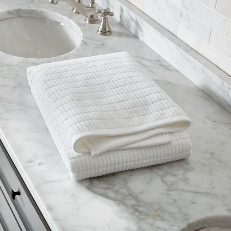 Manhattan White Bath Sheet