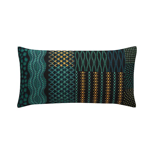 "Manish 24""x12"" Pillow with Down-Alternative Insert"