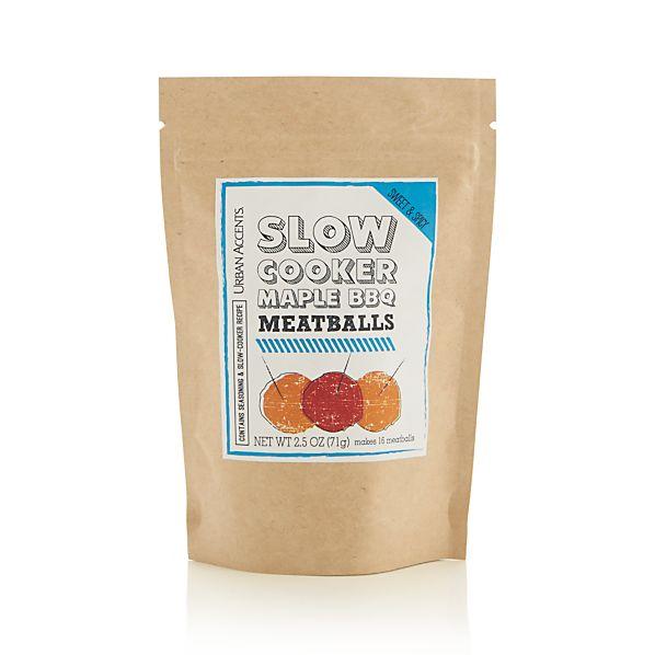 Slow Cooker Maple BBQ Meatballs Seasoning
