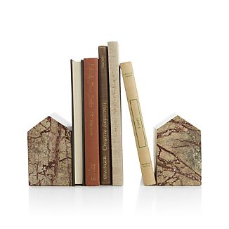 Set of 2 Marble House Bookends
