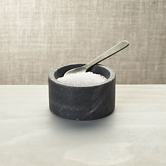 Marble Salt-Pepper Cellar with Spoon