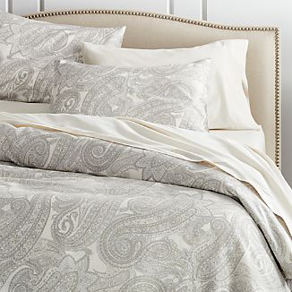 Mariella Cream-Grey Duvet Covers and Pillow Shams