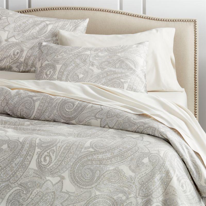 Mariella Full/Queen Cream-Grey Duvet Cover