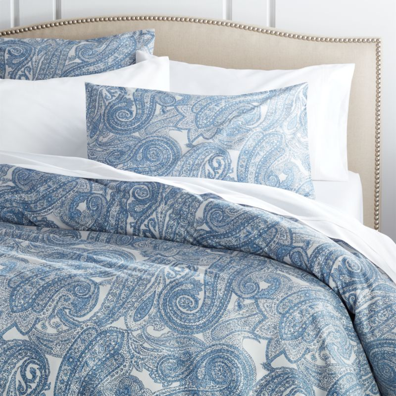 Mariella Blue Duvet Covers And Pillow Shams Crate And Barrel
