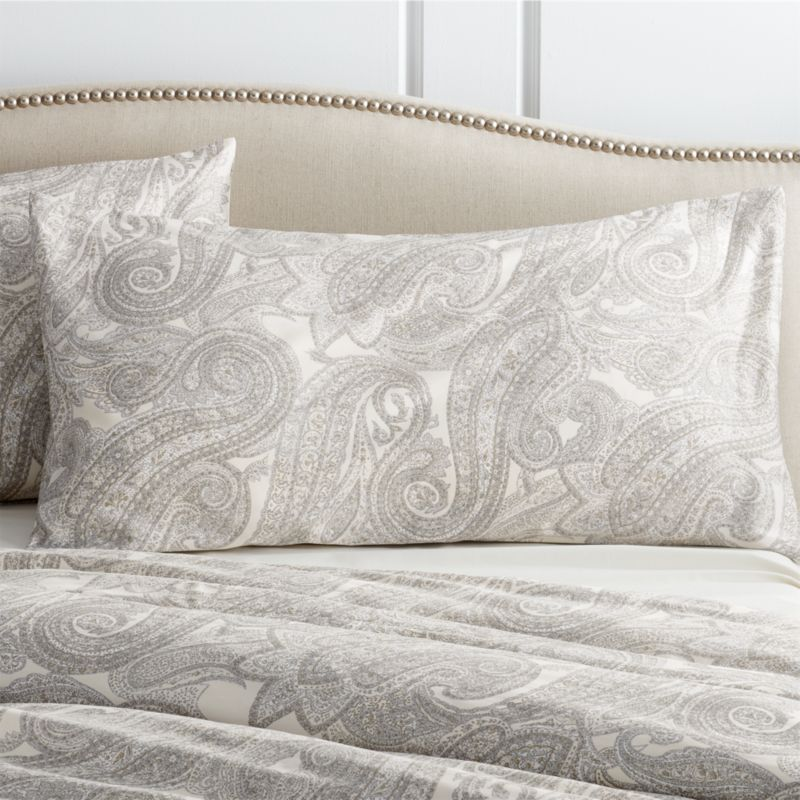 Mariella King Cream-Grey Pillow Sham