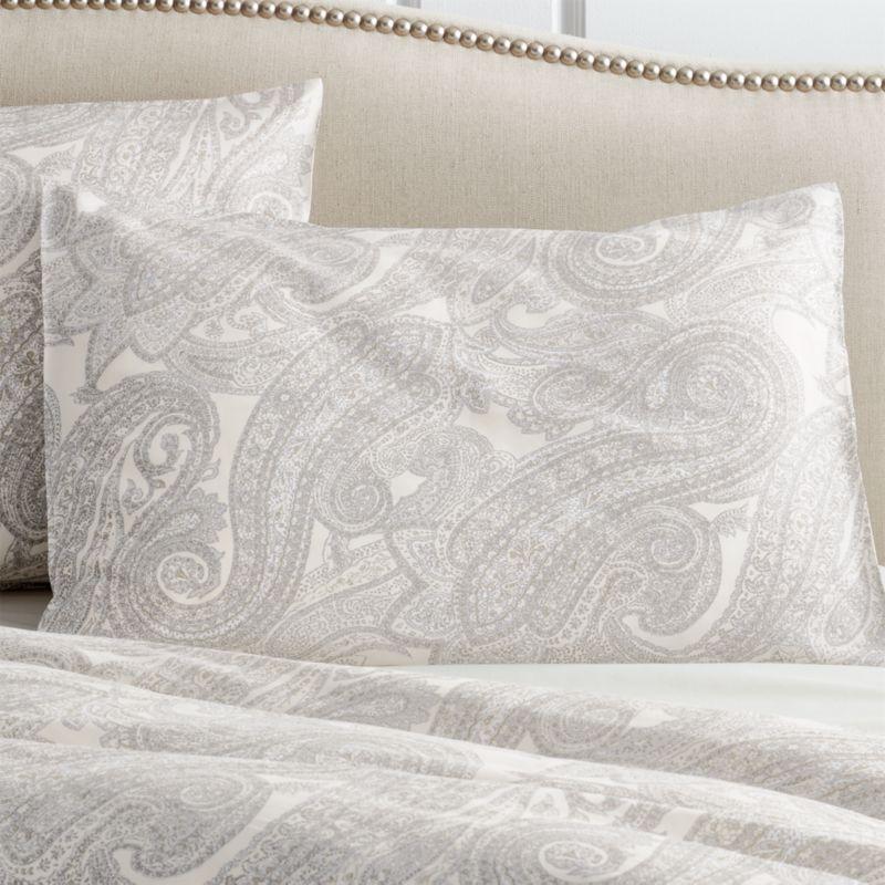 Mariella Standard Cream-Grey Pillow Sham
